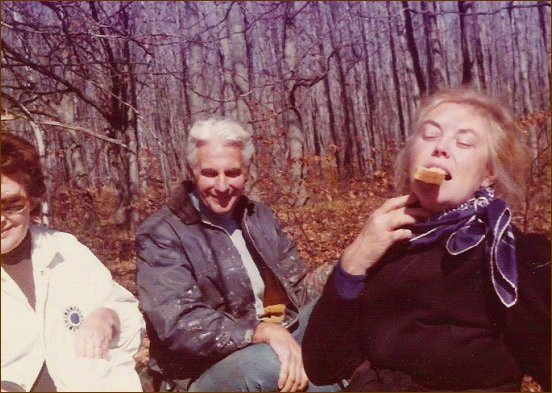 Ron and Christina Leonard and Catherine Fraser c.1975